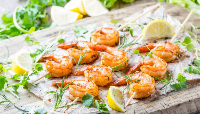Grilled Lemon Shrimp And Mushrooms Recipe